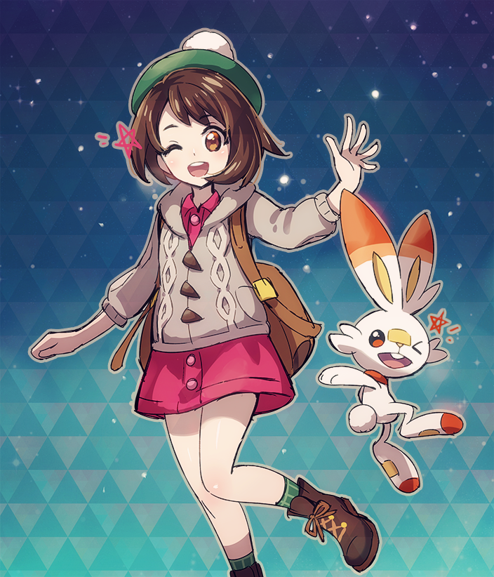 Scorbunny And New Heroine By Nyjee On Deviantart Pokemon Pokemon