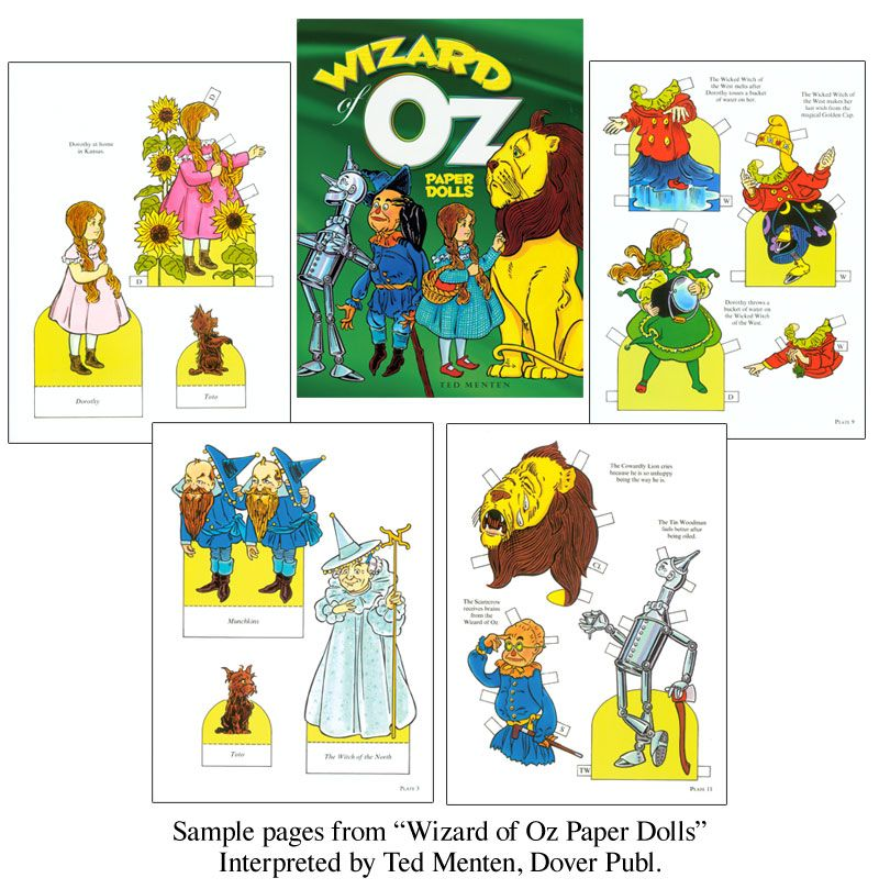 Vintage Wizard Of Oz Paper Doll Images  Google Search  Wiz Of Oz