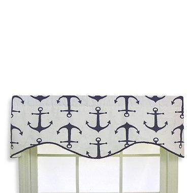 This Nautical Themed Valance Features A Printed Design Of Deep