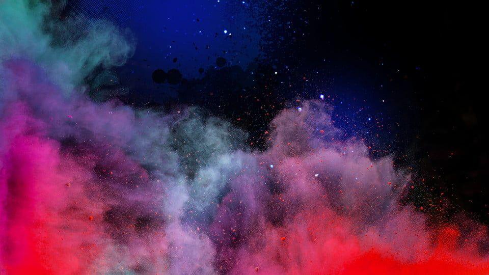 Material De Fundo De Ceu Estrelado De Nuvens Coloridas Plano De Fundo Colorido Fundo Ceu Nuvem