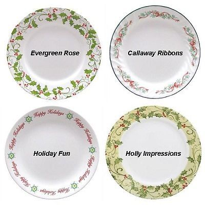 corelle christmas holiday dinnerware ebay i love the snowmen plate too bad its
