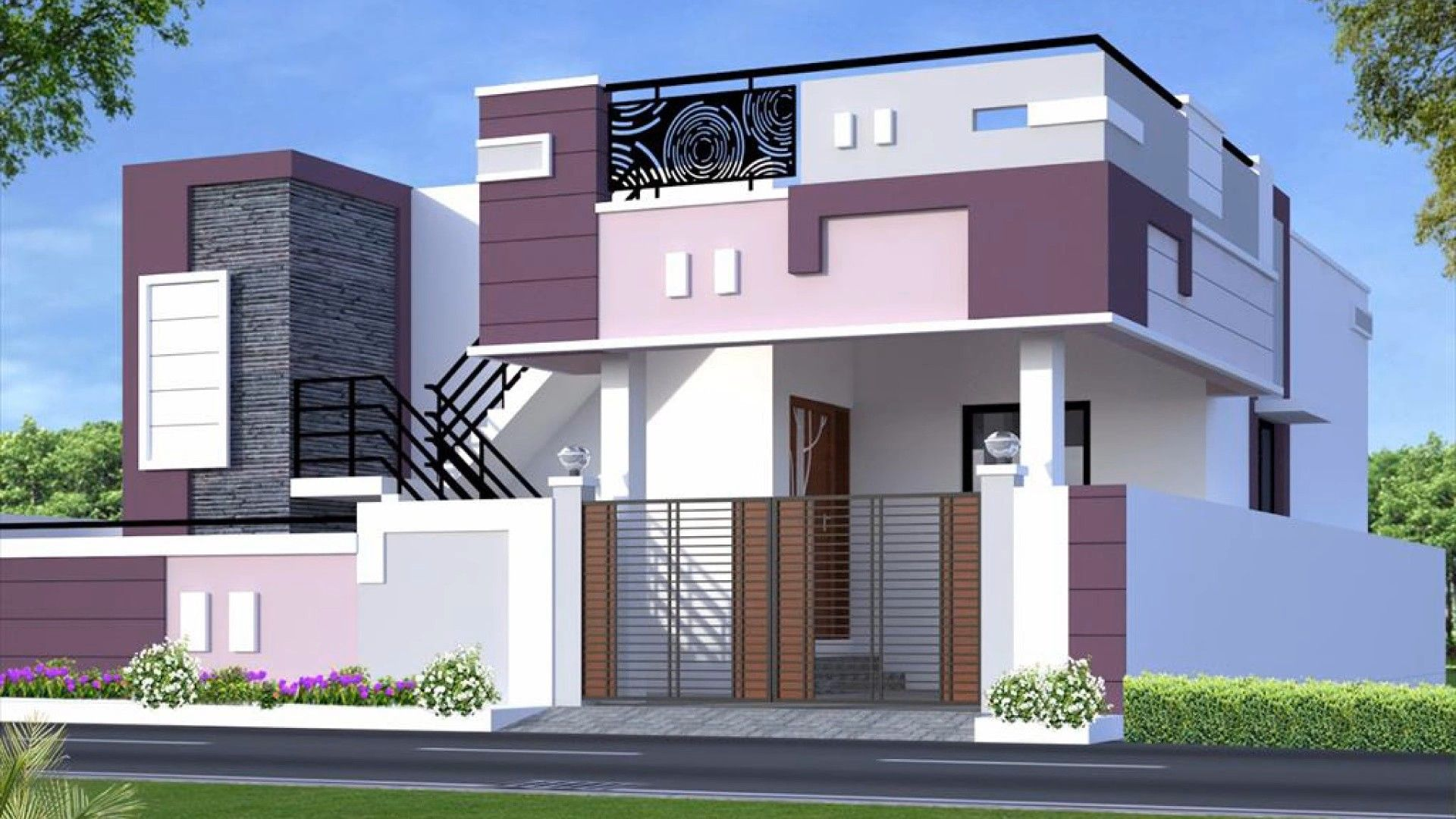 Pin By Mouli Moni On Front Elivations House Front Design Small