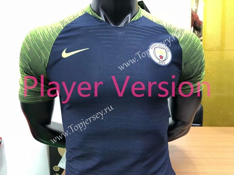 new arrivals b73ac 306b3 Player Version 2018-19 Manchester City Dark Blue Thailand ...