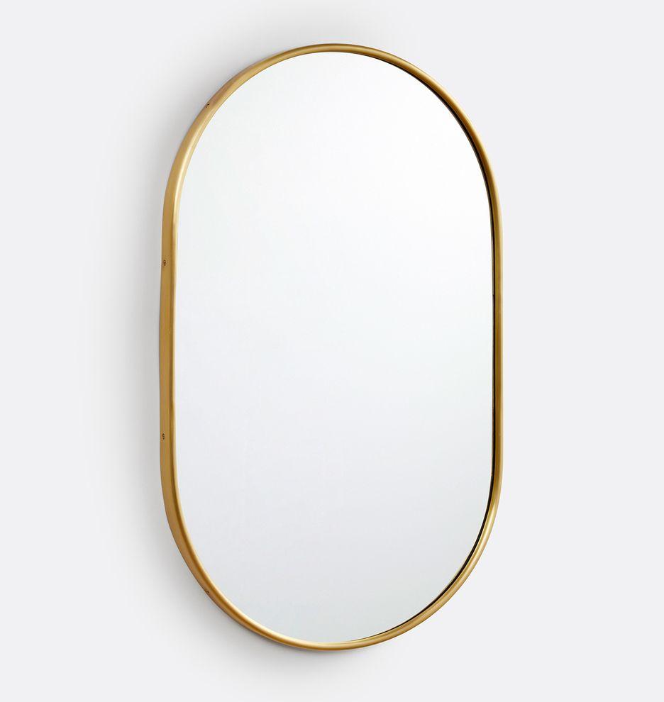 22 X 36 Pill Metal Framed Mirror Rejuvenation In 2021 Metal Frame Mirror Mirror Frames Metal Frame 22 x 36 mirror