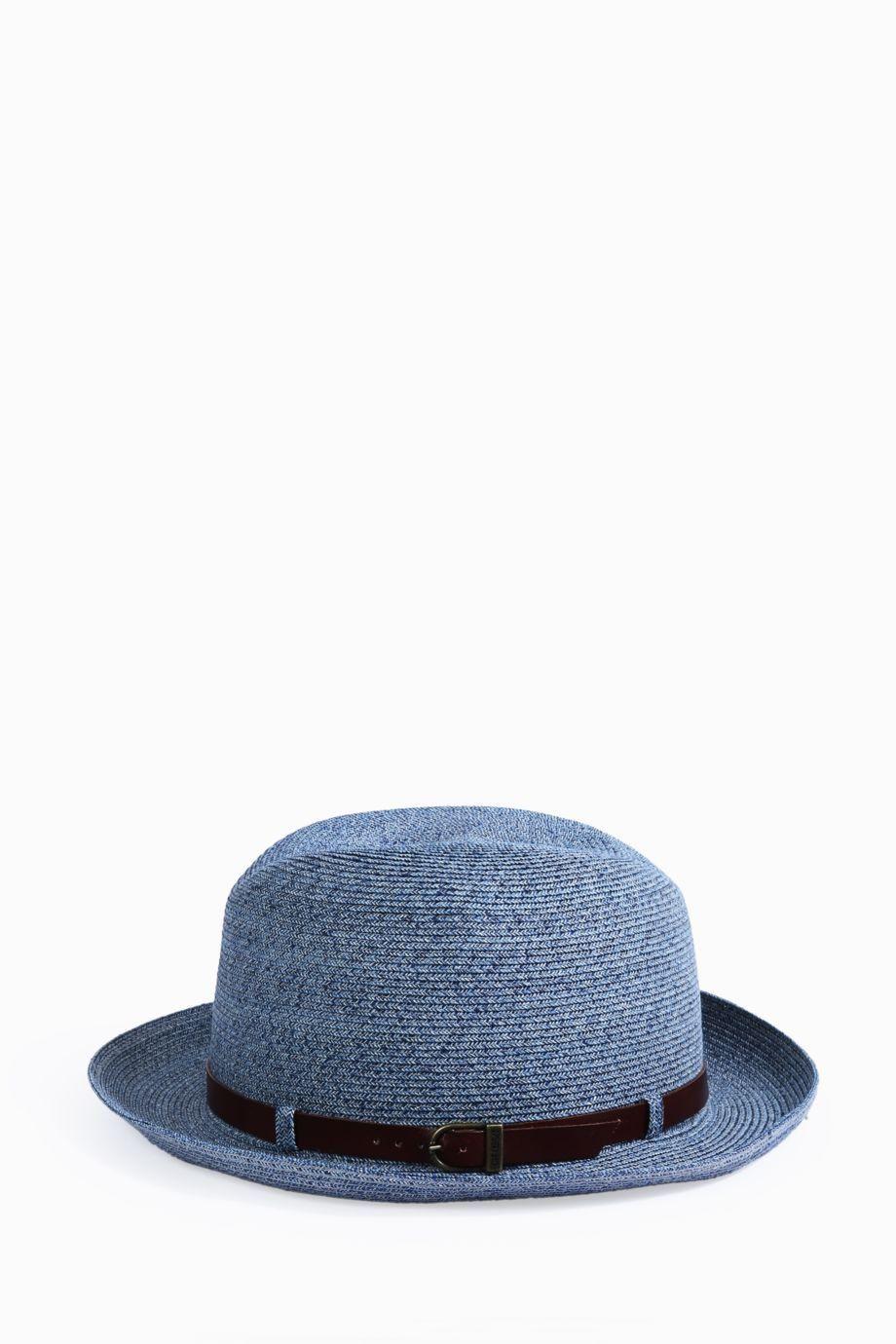 GREVI Classic Leather Band Hat.  grevi    bc8f1e08cc4d