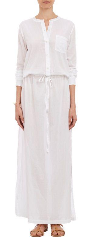 THEORY Cotton Voile Beach Maxi Dress