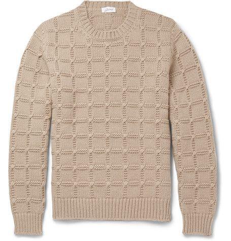 Brioni Slim Fit Cable Knit Cashmere Sweater Mr Porter Knit Men