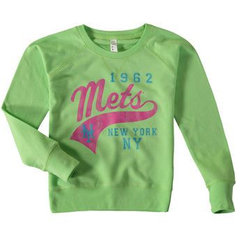 buy popular 20d6b ccd50 Youth Girls New York Mets Soft as a Grape Green Slouchy ...