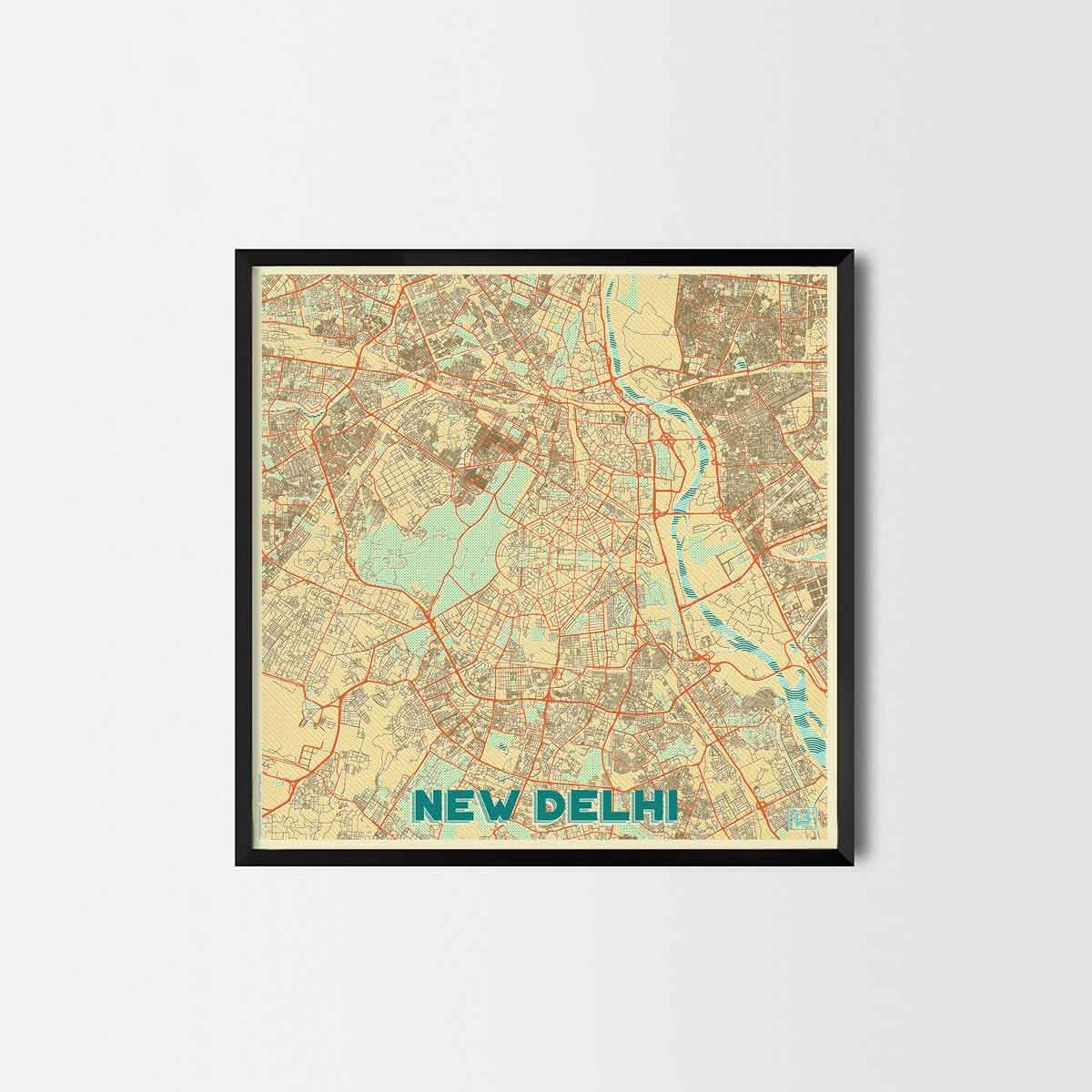 New delhi city prints city art posters and map prints art new delhi city prints city art posters and map prints gumiabroncs Images