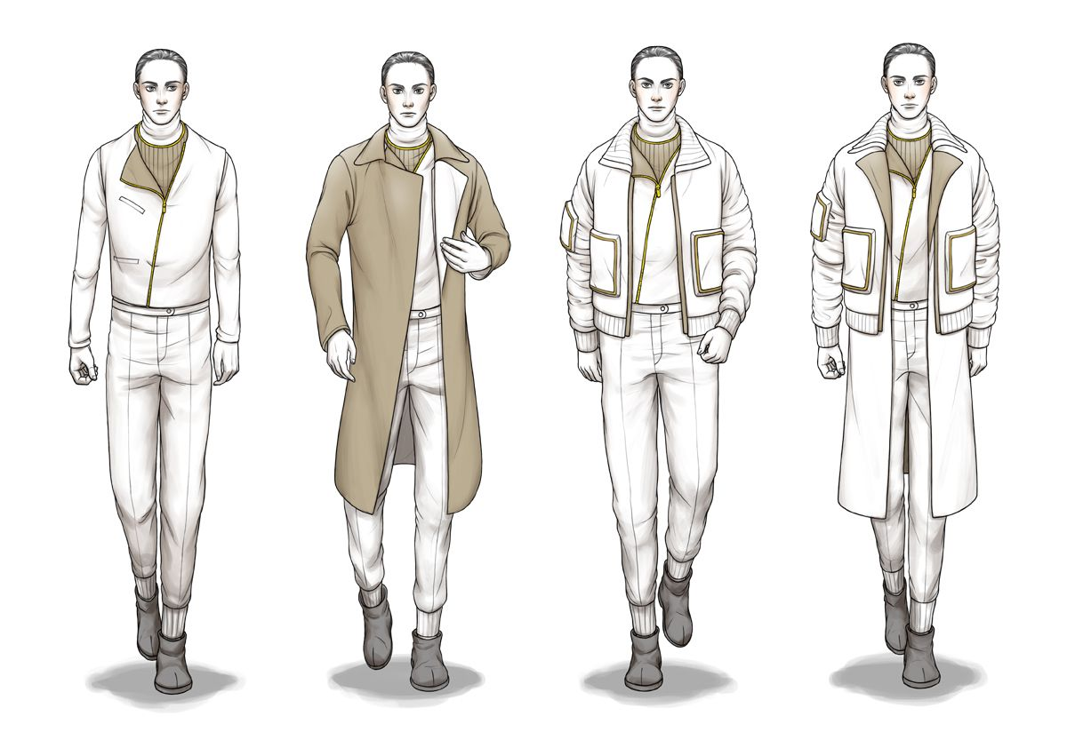 Look - Illustration Fashion sketches for men video