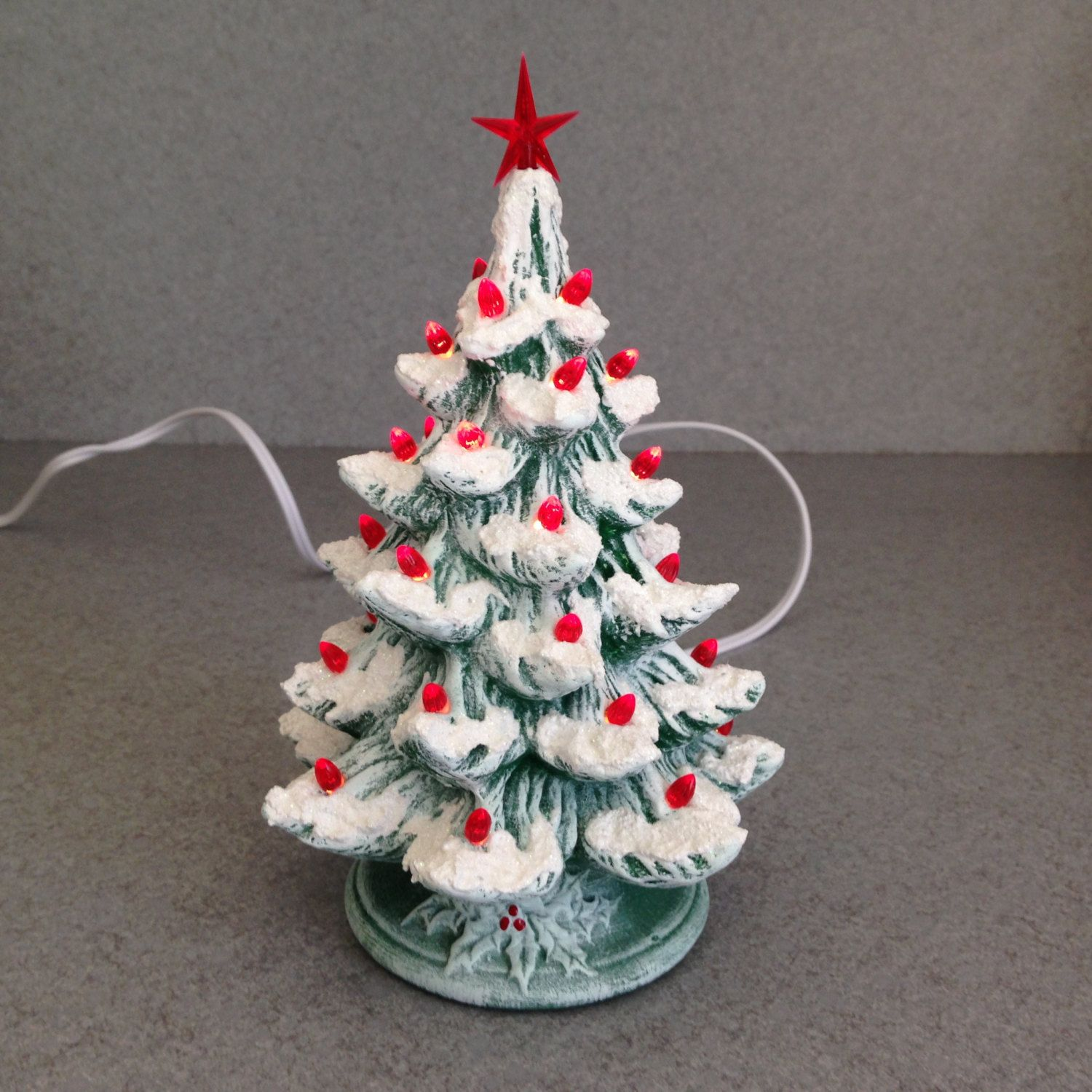 ceramic christmas tree lights plastic