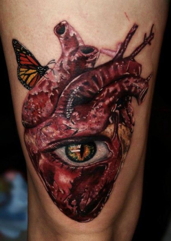 Disturbing heart with an eye by Carlox Angarita!