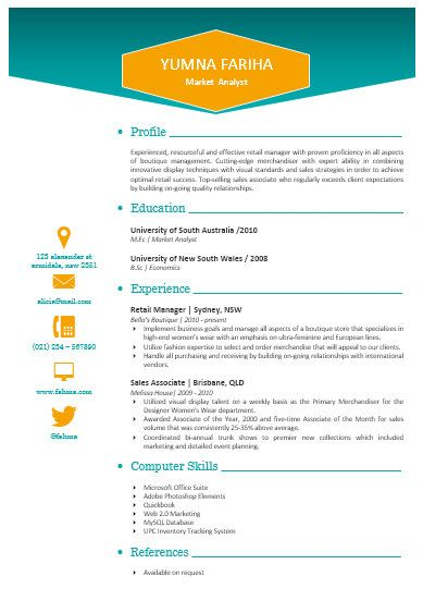 Modern Microsoft Word Resume Template Yumna Fariha By Inkpower