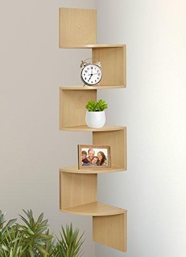 Greenco 5 Tier Wall Mount Corner Shelves Espresso Corner Decor Wall Mounted Corner Shelves Wall Shelves Design
