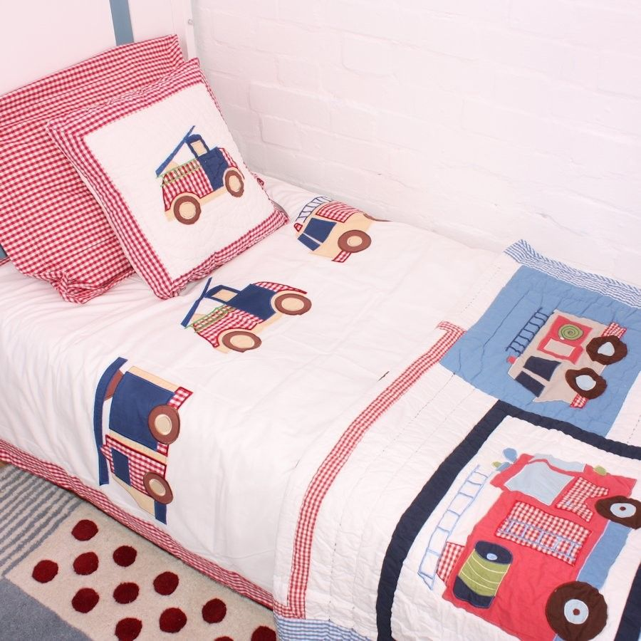 Baby quilts bed covers - Fire Truck Cot Bed Duvet Cover 44 Http Www Babyface