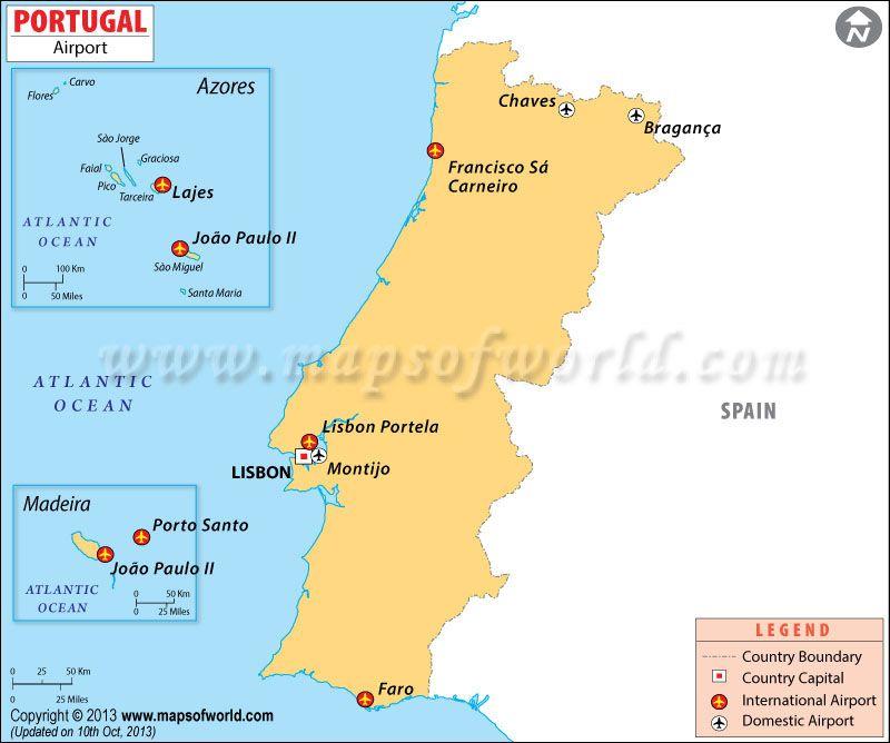 Airports In Portugal Mapa Paises Mapa Politico Del Mundo Mapa