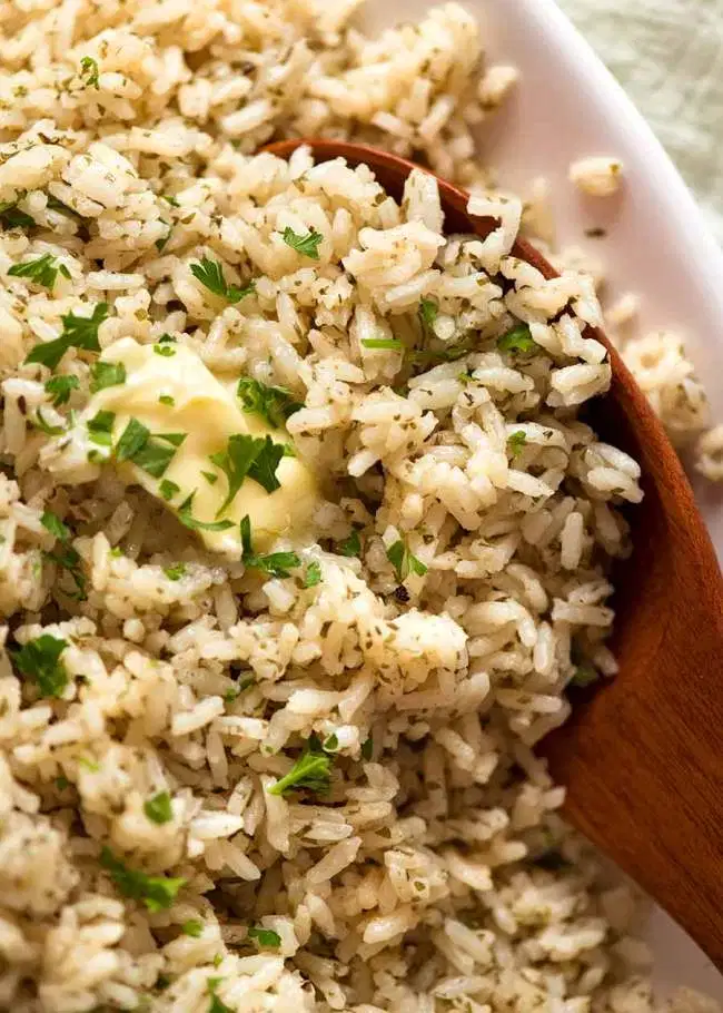Buttery Seasoned Rice - super economical, super tasty!