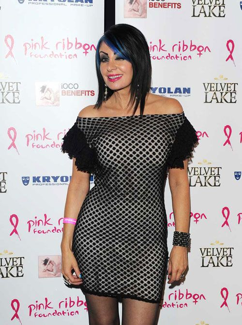 lisa lashes #pinkribbon - Off shoulder dress, Celebrity ...