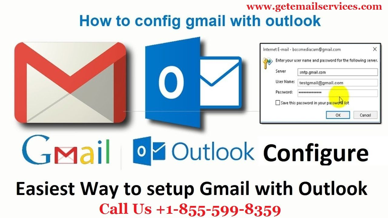 Gmail Account Configure in Outlook with IMAP, SMTP, POP +1