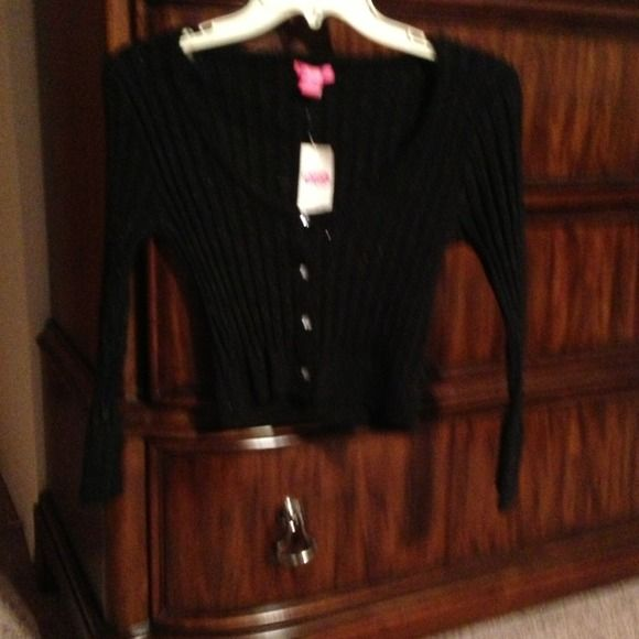 Black cardigan with sparkles Black cardigan with sparkles lola Tops
