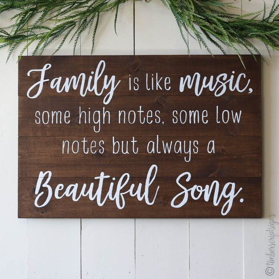 Home Decor Signs Quotes: Wooden Sign With Quote Family Is Like By TimberScript On