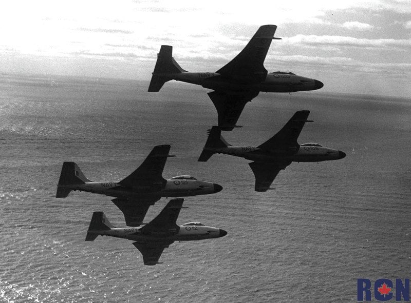 Air to air view of the Aerobatic Team, Grey Ghosts, flying in formation