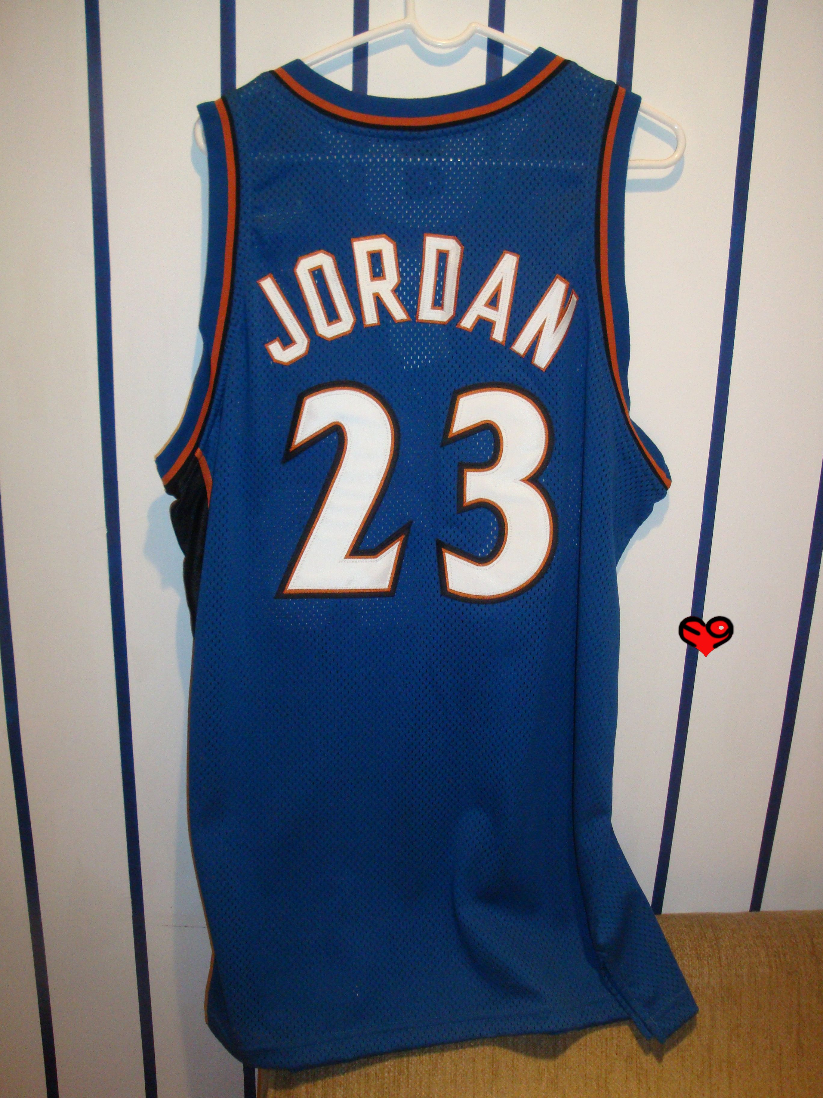 huge selection of 64ae2 261b8 Jordan Authentic Nike Wizards Away Jersey (back)   Michael ...
