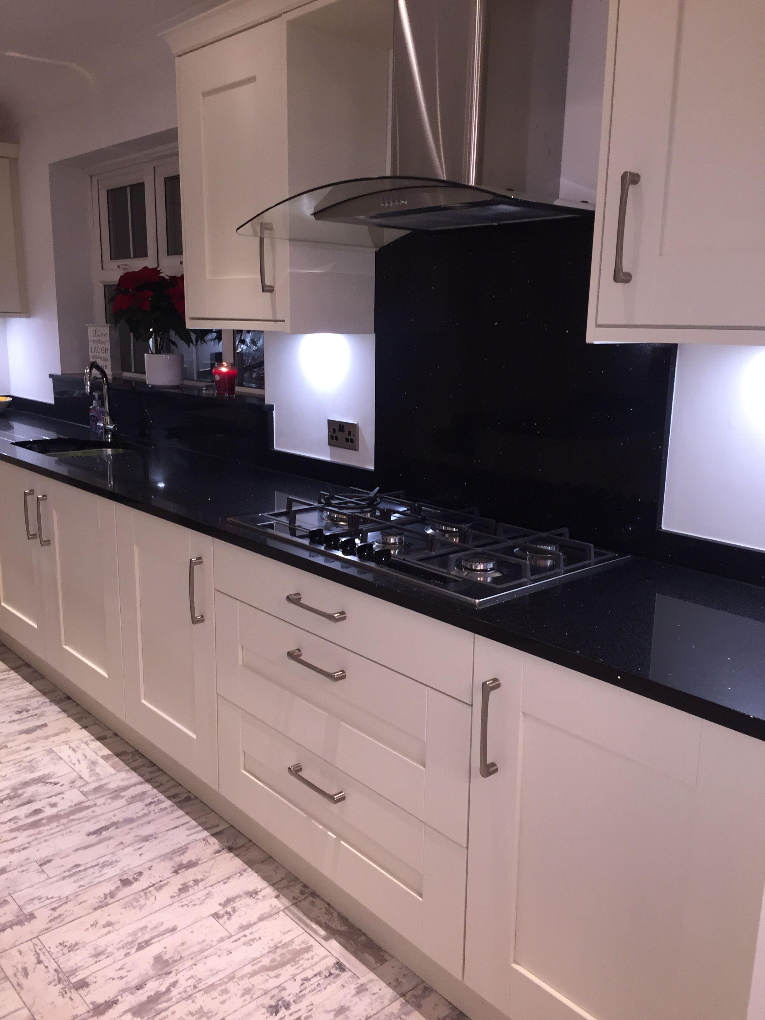 Love My New Kitchen Ivory Shaker Doors Starlight Black Quartz