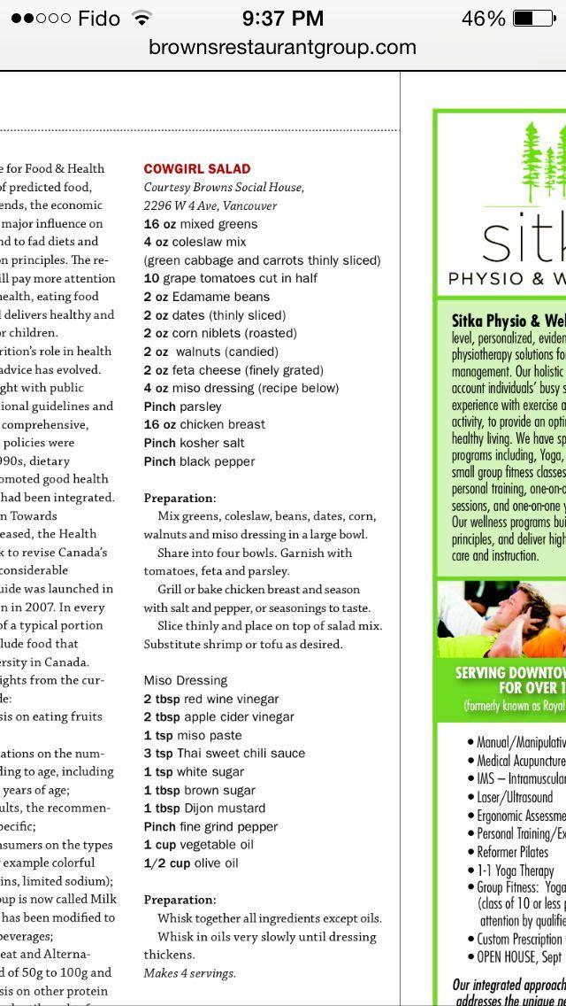 Cowboy Salad Salad Recipes Food Network Recipes