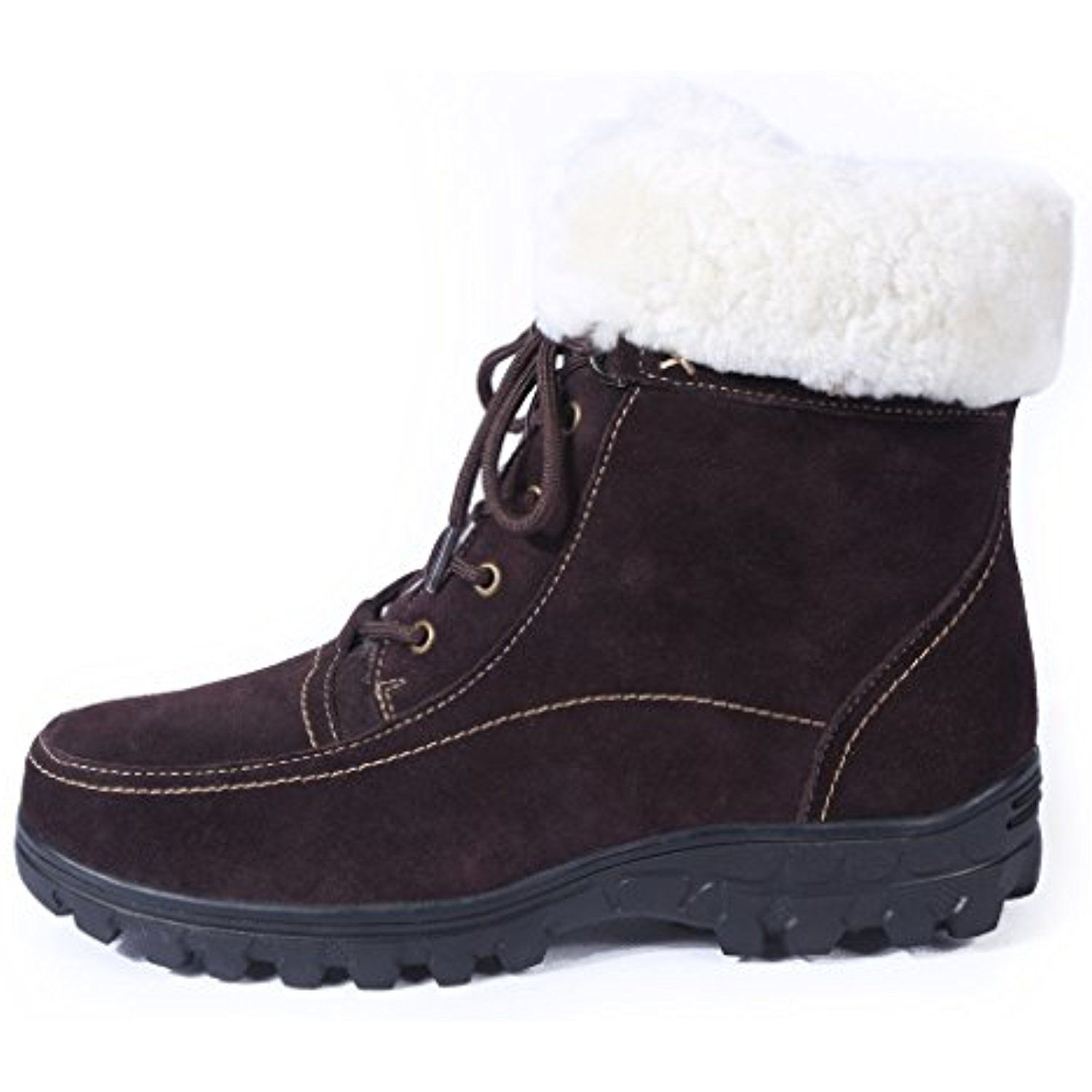 Women's Fur Lined Comfortable Zippered Winter Boots