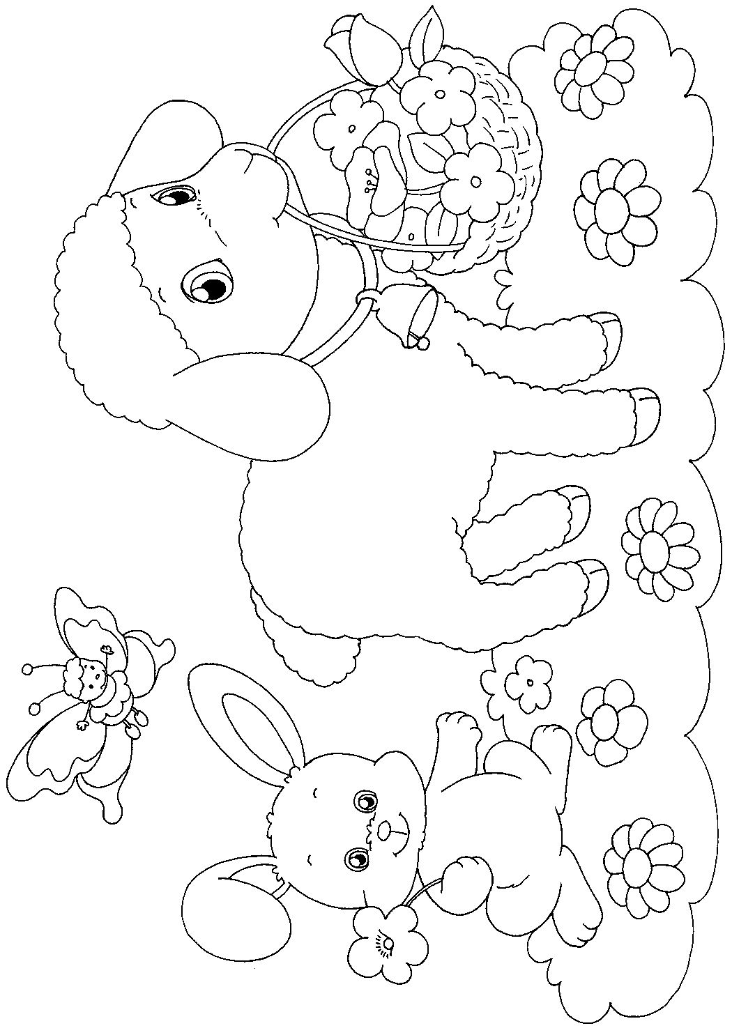 Easter coloring pages games ~ Image detail for -here is an easter paper craft and a ...