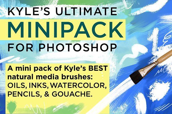 Kyle's Photoshop Brush Mini Pack by Kyle's Pro Design Tools  on @creativemarket
