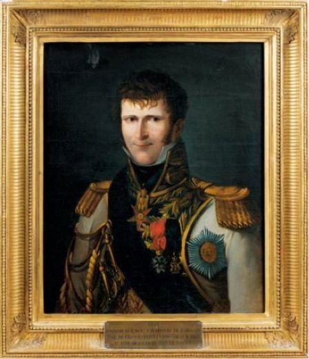 Général Comte Jacque-Marie CAVAIGNAC de BARAGNE représenté en uniforme d'aide de camp du roi de Naples Joachim MURAT, beau frère de NAPOLEON 1er  circa 1810[1]