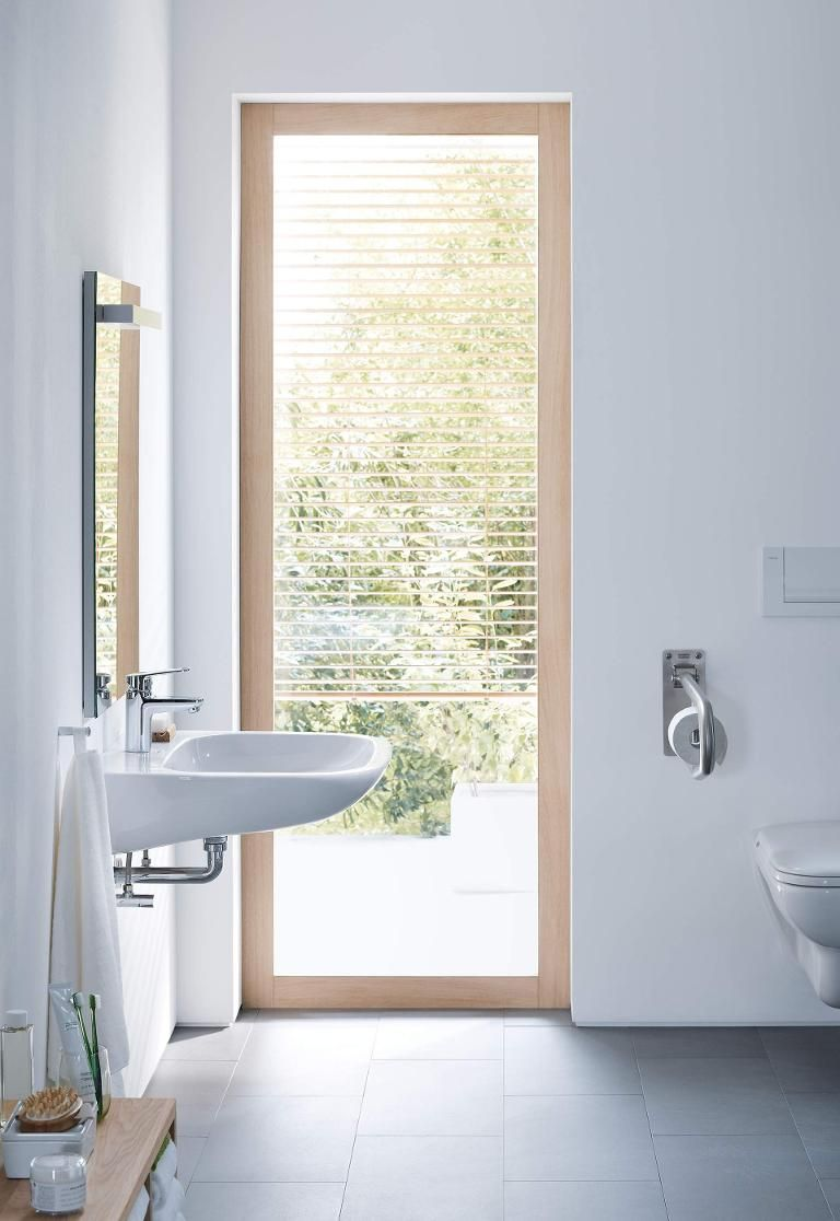 the most important criteria in a barrierfree bathroom are and flexibility