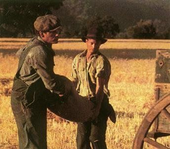 John Malkovich And Gary Sinise In Of Mice And Men Of Mice And Men Gary Sinise Light Film