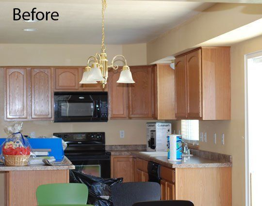 Before After A Kitchen Overhaul Complete With Painted Cabinets
