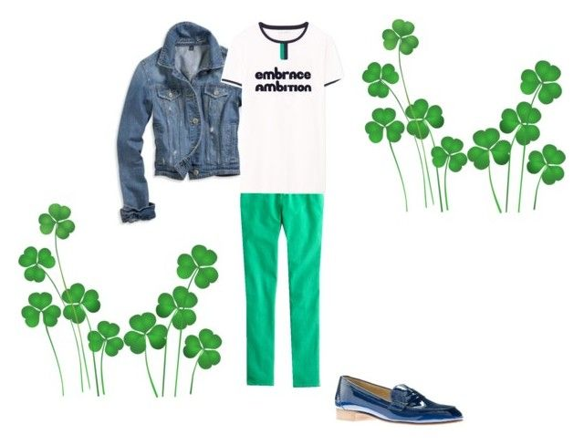 """""""Happy St. Patty's Day"""" by milljcrew ❤ liked on Polyvore featuring American Eagle Outfitters and J.Crew"""