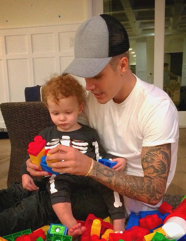 Justin and a toddler