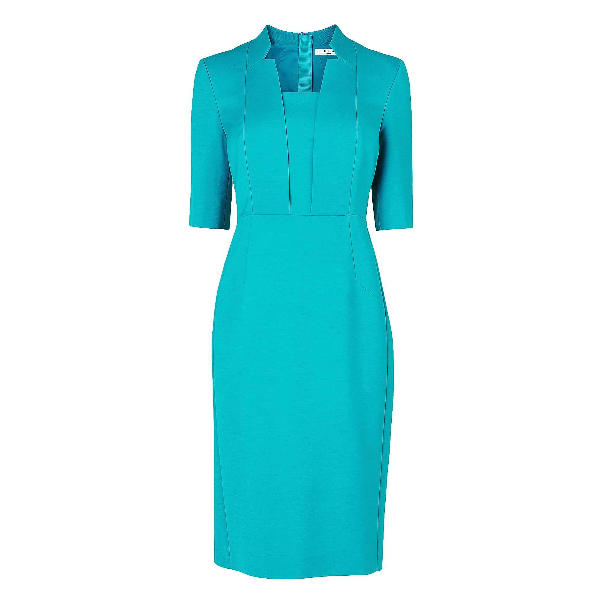 Ross Notch Collar Fitted Dress | Dresses | Clothing | L.K.Bennett ...