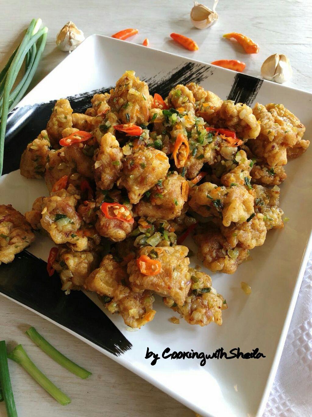 Menu Makan Siang Keluarga Saya Hari Ini Ayam Goreng Cabai Garam Menu Chinese Favorit Diberi Sebutan Cabai Garam K Resep Ayam Makan Siang Resep Makan Malam
