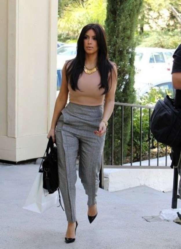 Pantalones De Talle Alto Como Llevarlos Y Combinarlos Fotos De Los Modelos 40 40 Ellahoy Ropa De Vestir Mujer Ropa Pantalones De Vestir Mujer