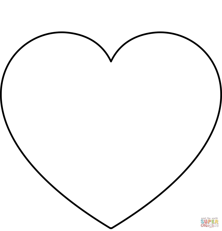 Dibujo De Plantilla Sencilla De Corazon Para Colorear Dibujos Para Colorear Imprimir Gra Corazon Para Colorear Corazones Para Imprimir Corazones Para Dibujar