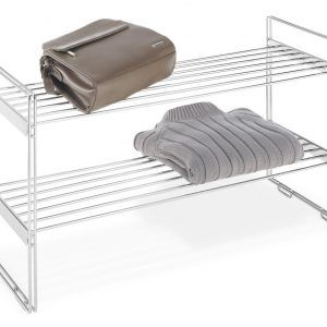 Stackable Chrome Closet Shelves