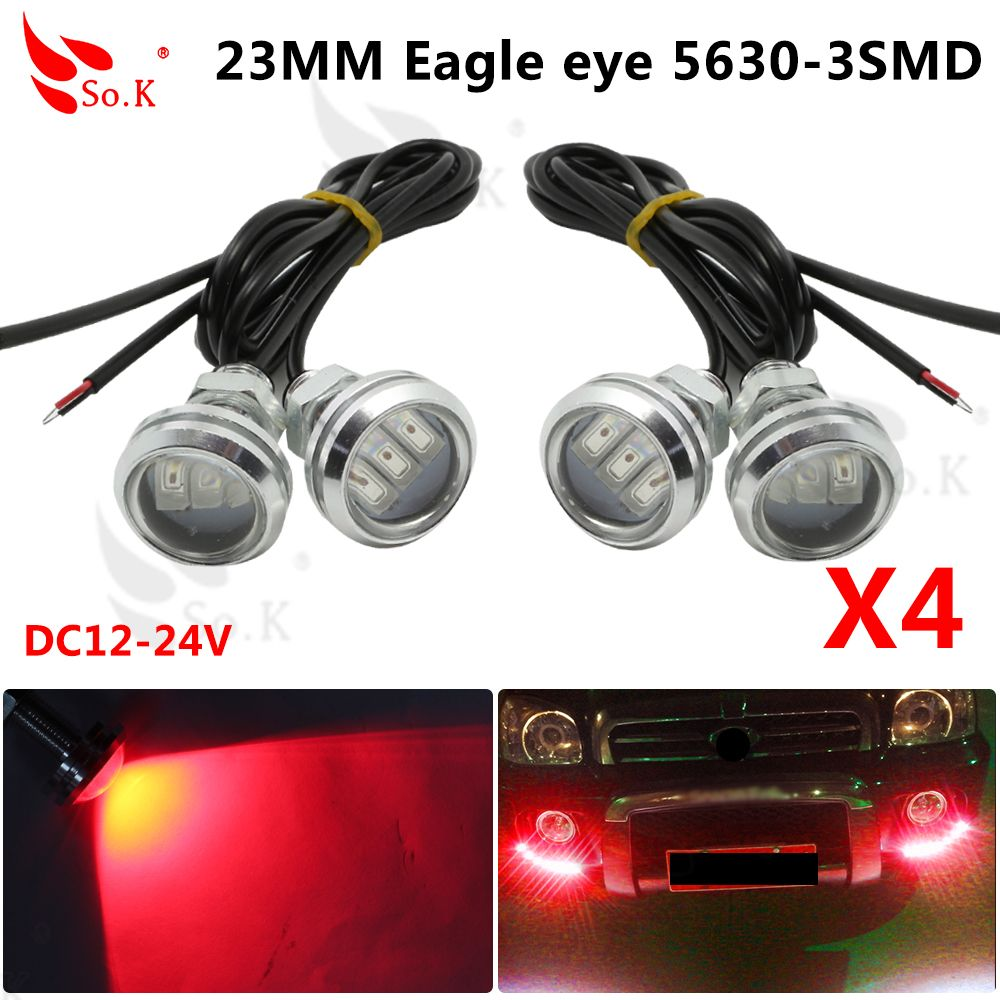 23MM Spotlight Eagle Eye Lamp 5630 3 SMD Car Motor Daytime DRL Tail Backup Light