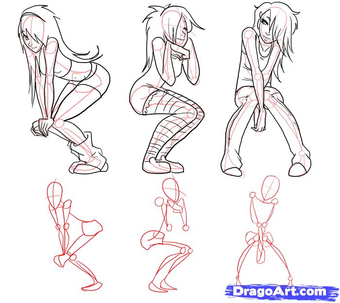 Anime Poses Drawing