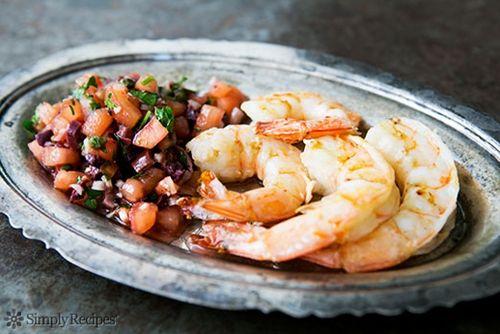 Grilled Shrimp with Italian Tomato Salsa