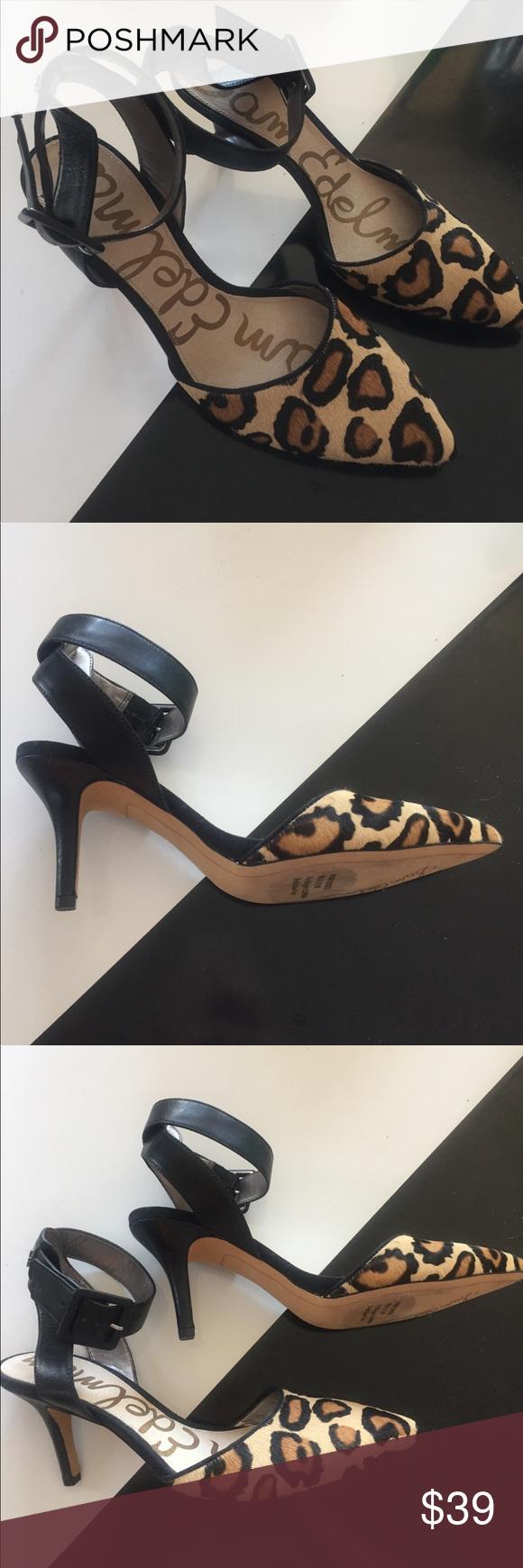 478c2256d46909 Sam Edelman NEW Okala Leopard Ankle Strap Heel - 8 SAM EDELMAN OKALA PUMP  HEEL IN