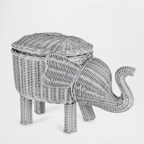 Cesta elefante cestas y cajas decoraci n zara home for Cestas zara home