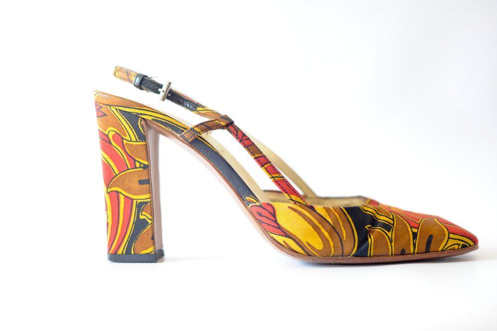 Vintage+Prada+Shoes//+op+art+print+prada//prada+by+vintagevirtu,+$100.00