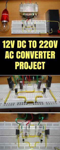 How To Make 12v DC to 220v AC Converter/Inverter Circuit Design ...